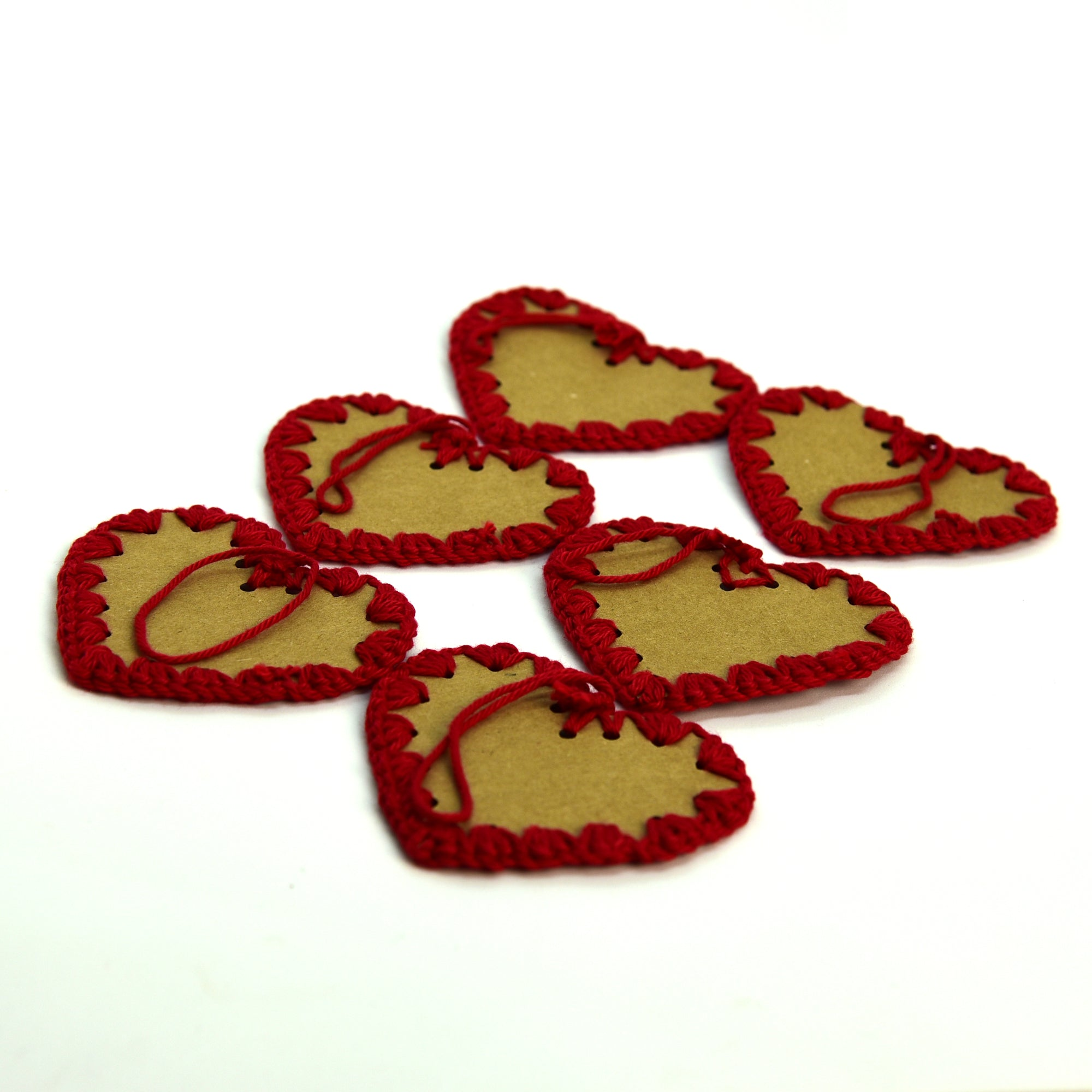 Crochet Tags for Gifts - Red Heart
