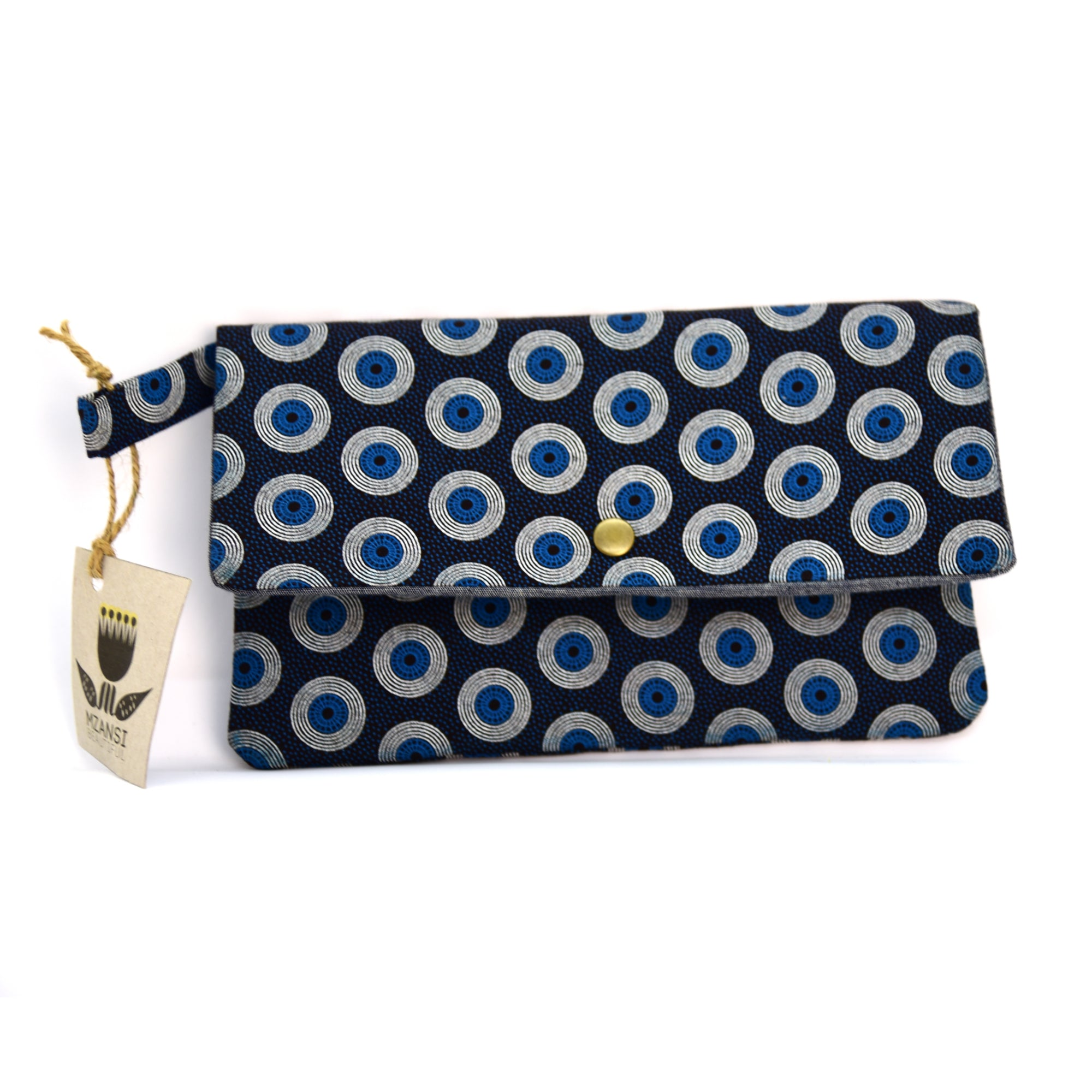 Medium Shweshwe Pouch - Blue