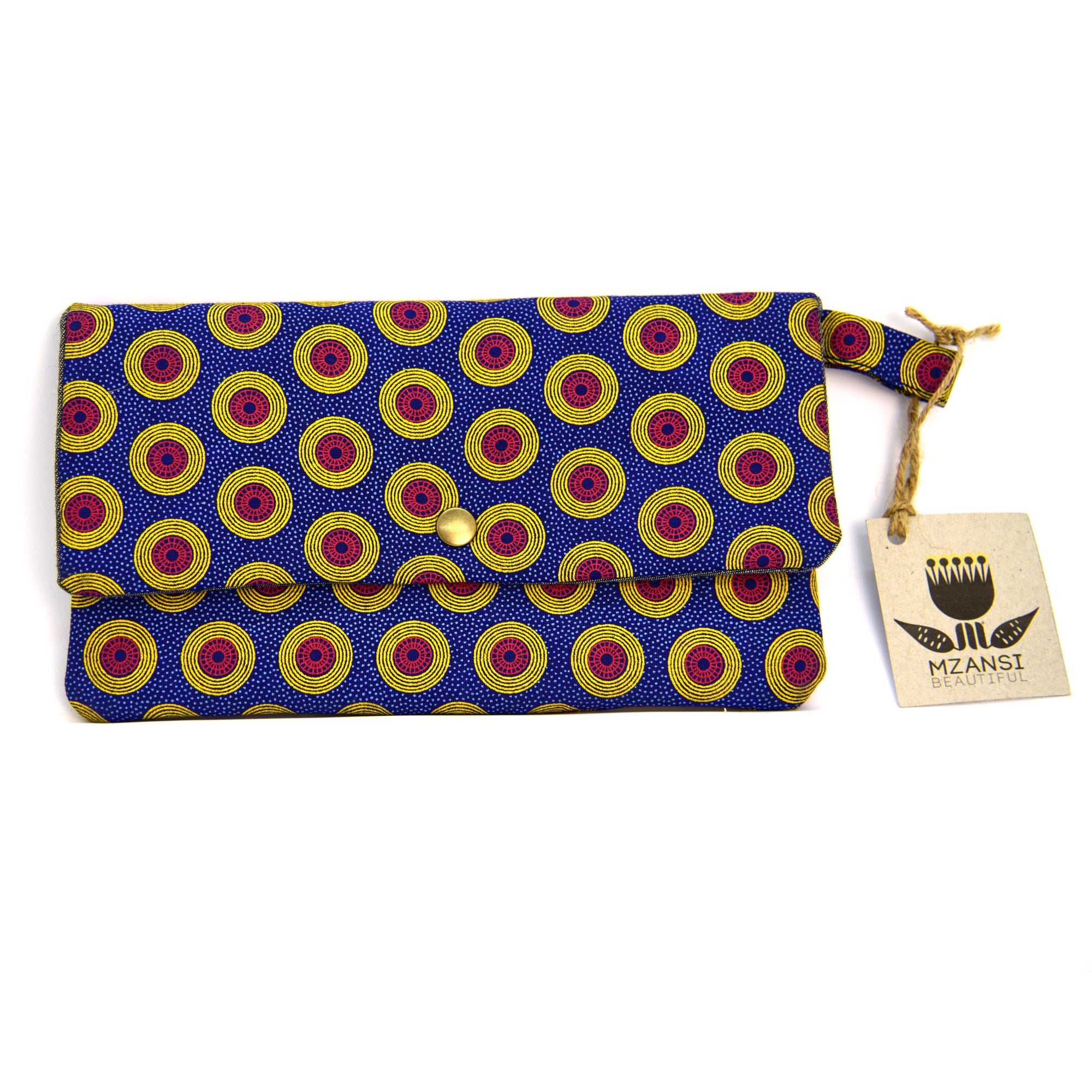 Medium Shweshwe Pouch - Yellow