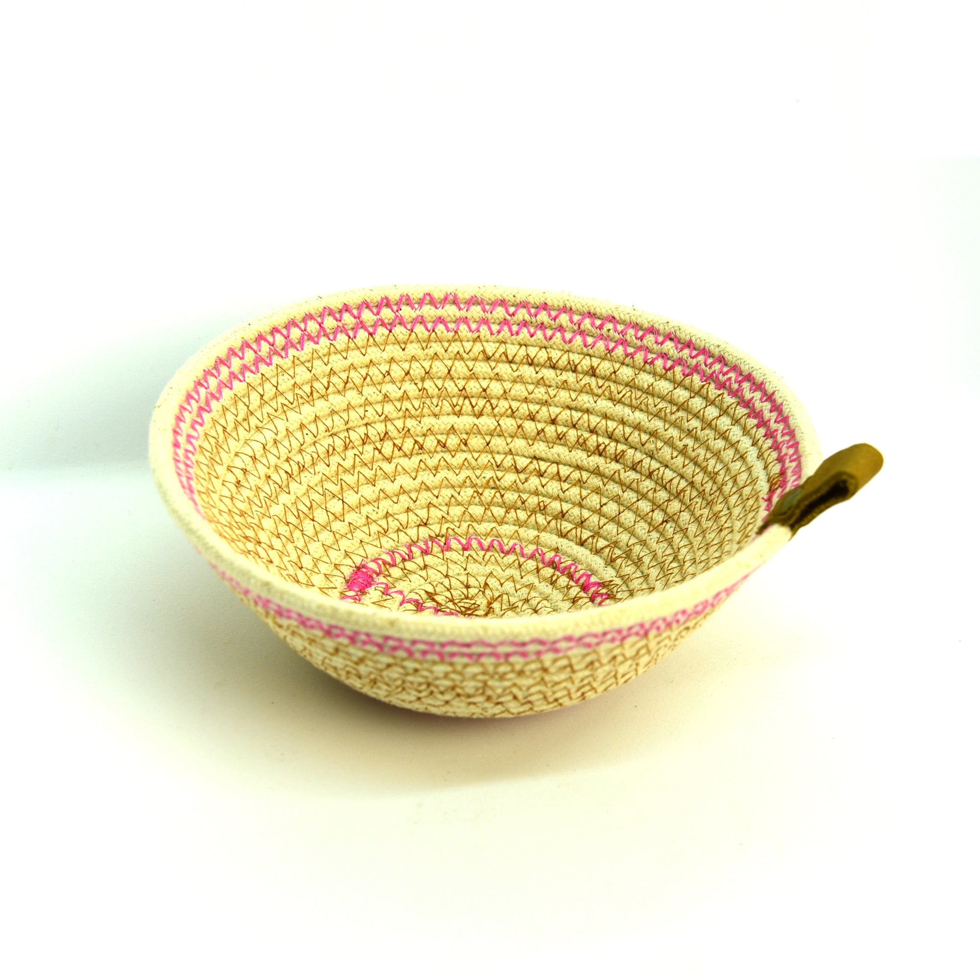 Rope Bowls - Small Pink Thread