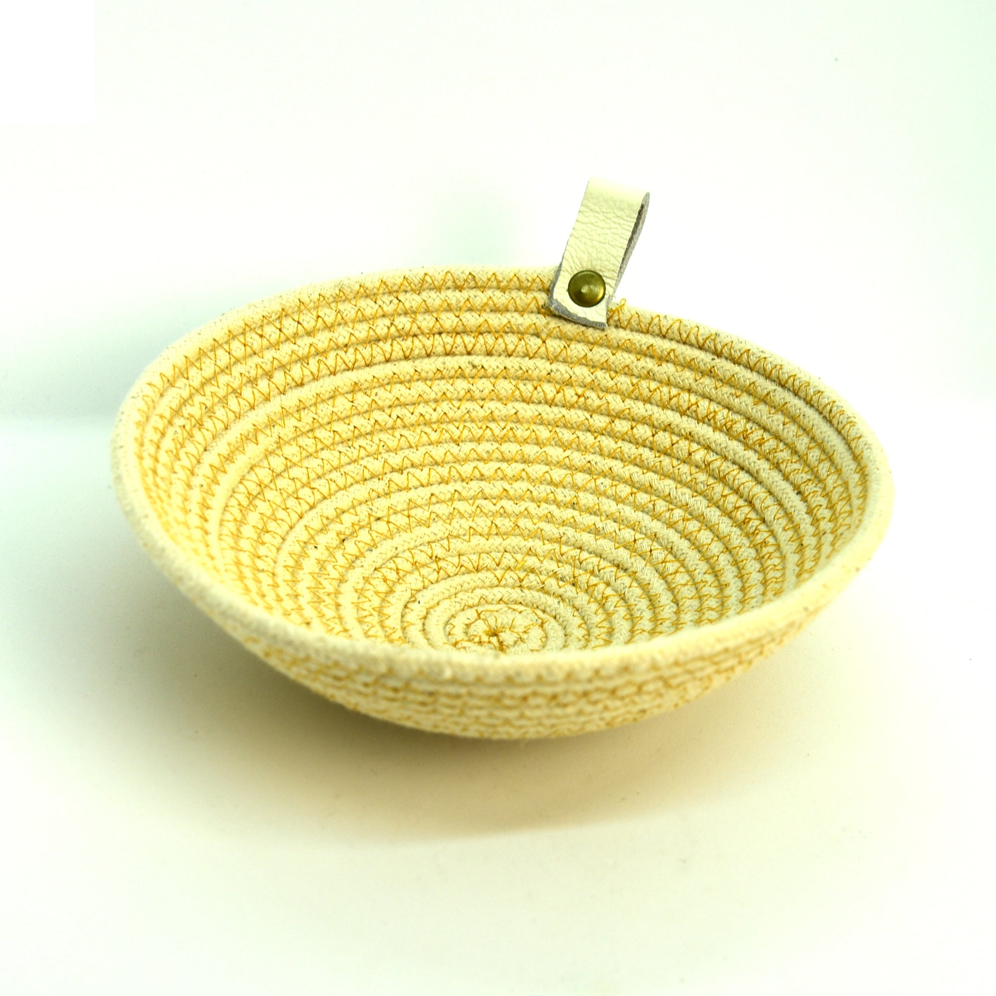 Rope Bowls - Medium Yellow Thread