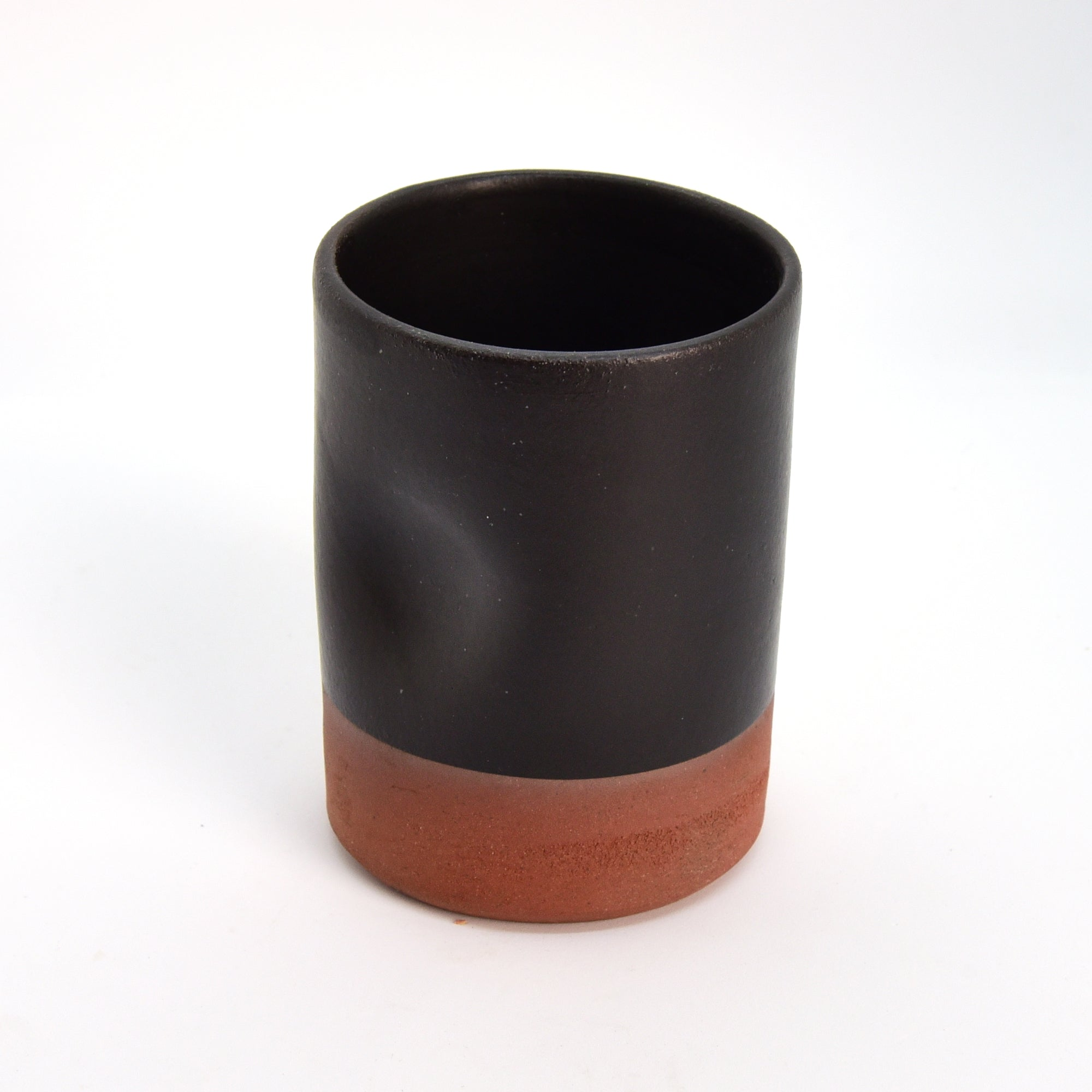 Ceramic Glass - Tall - Brick + Black