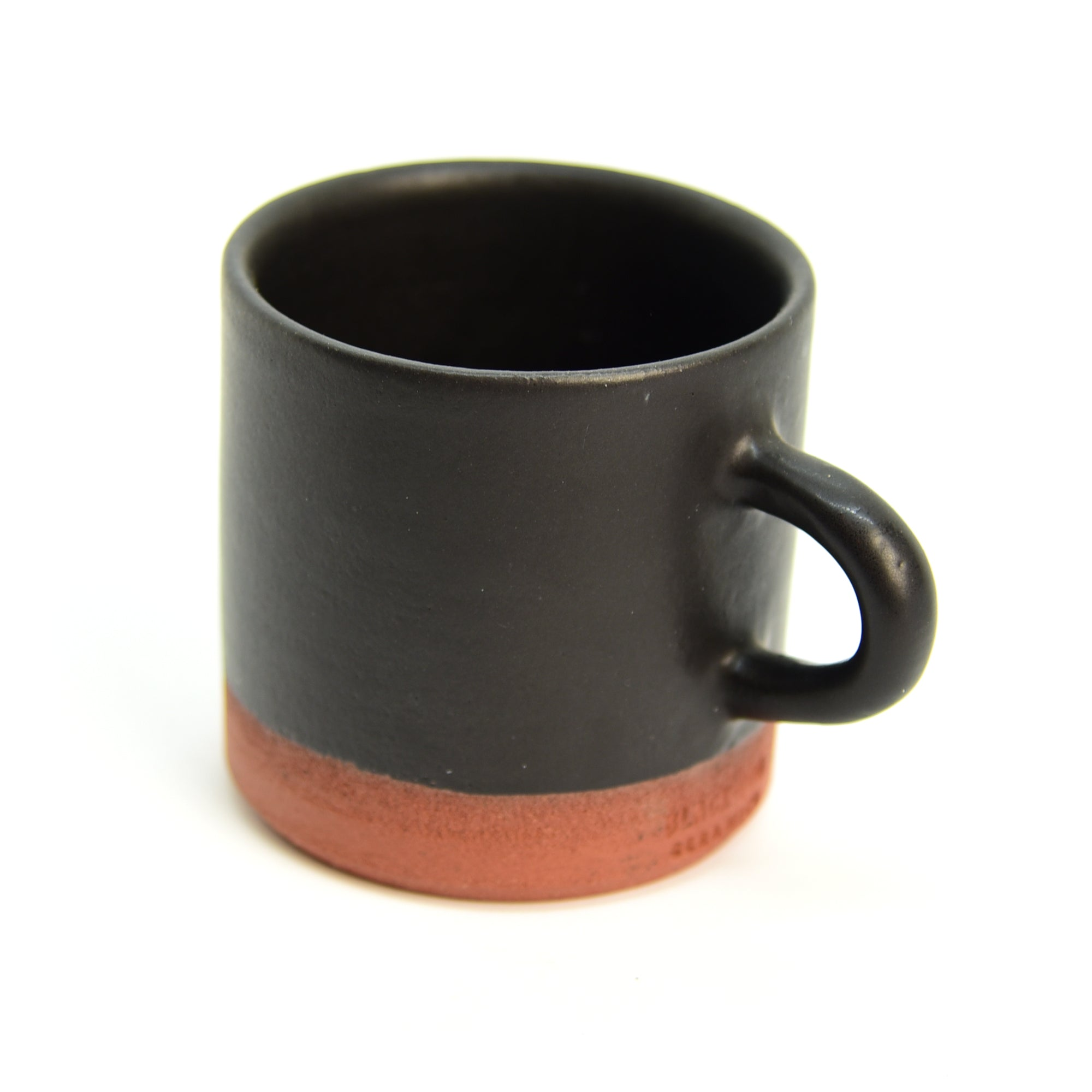 Ceramic Cup /Mug - Straight - Brick + Black