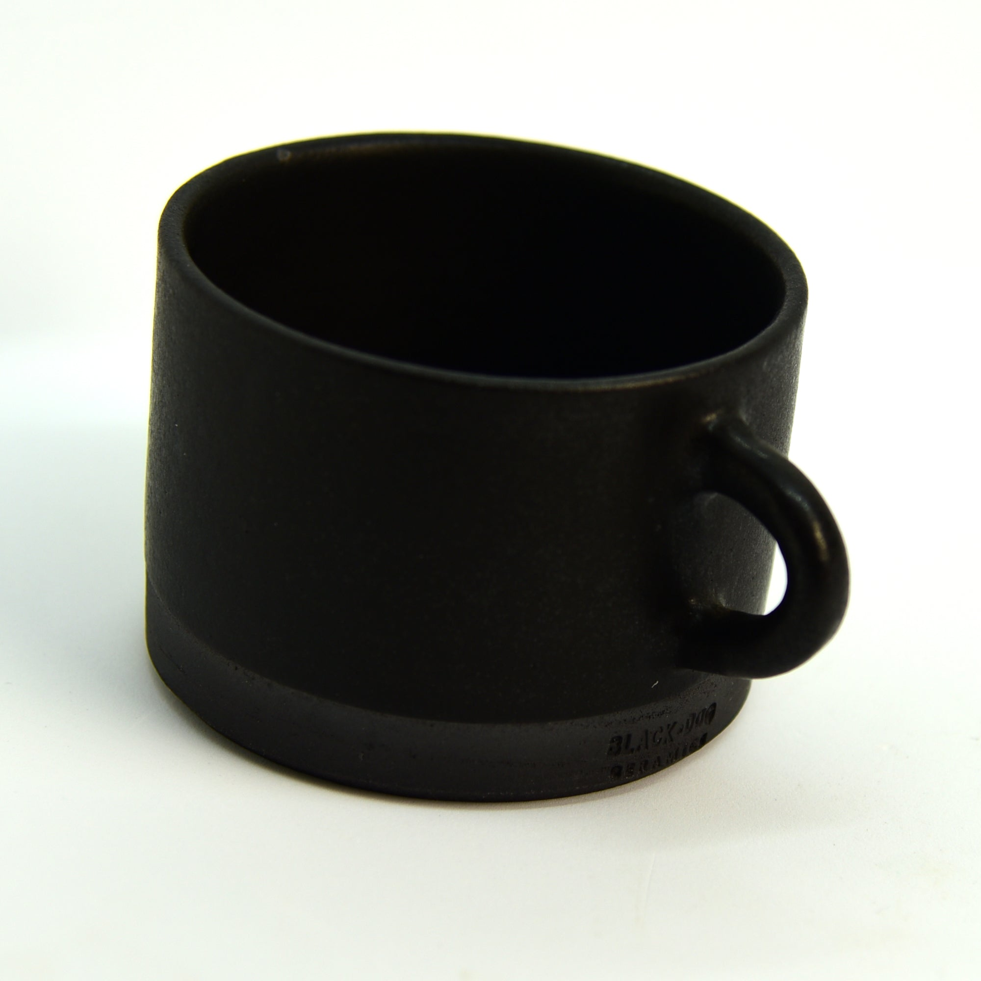 Ceramic Cup / Mug - Wide - Ebony + Black