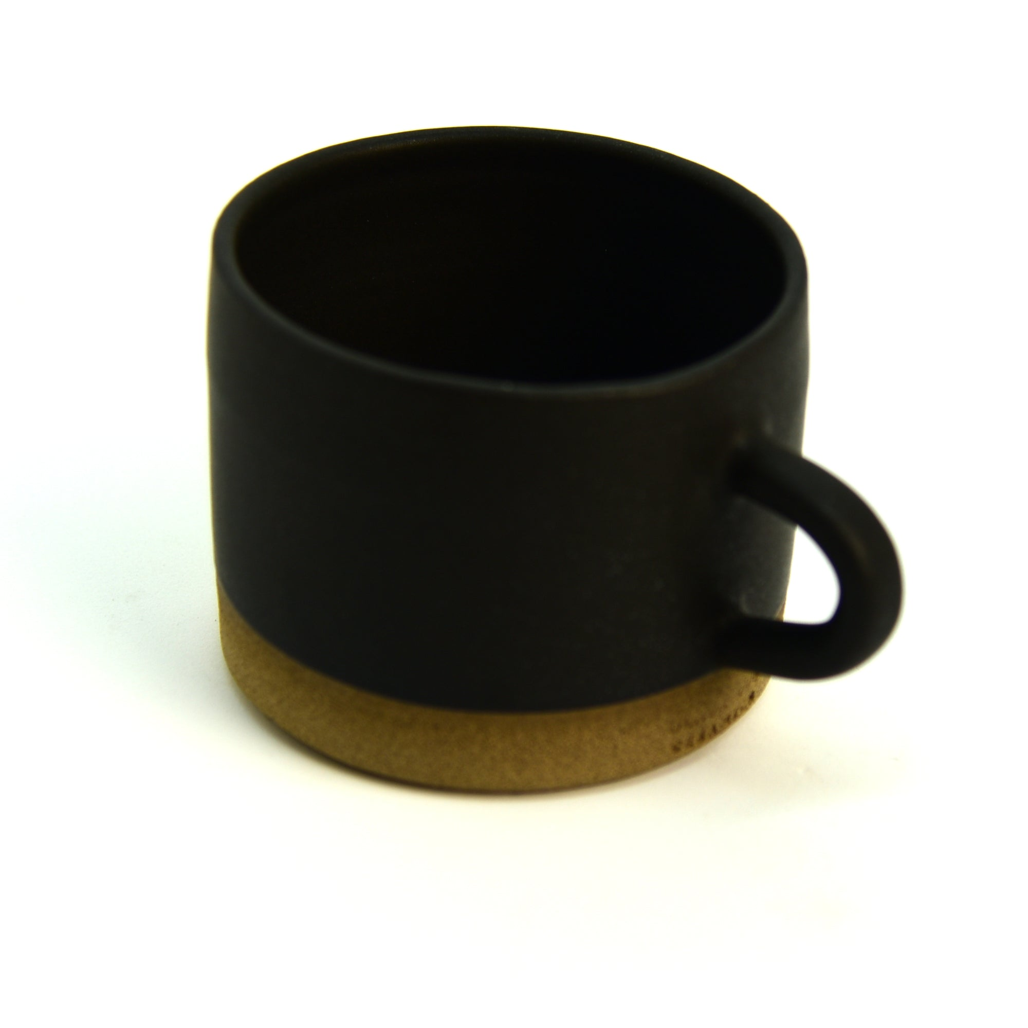 Ceramic Cup / Mug - Wide - Sand + Black