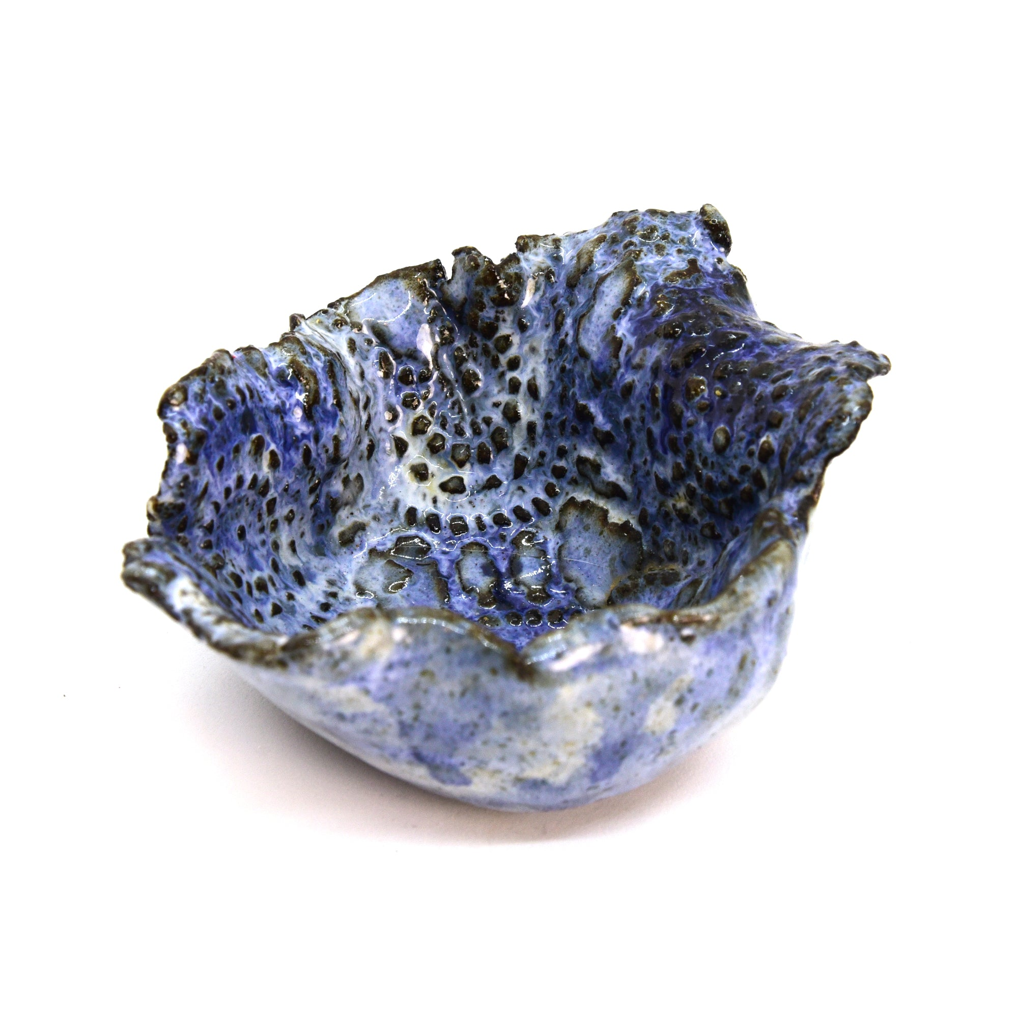 Raku Bowl - Blue Mandala