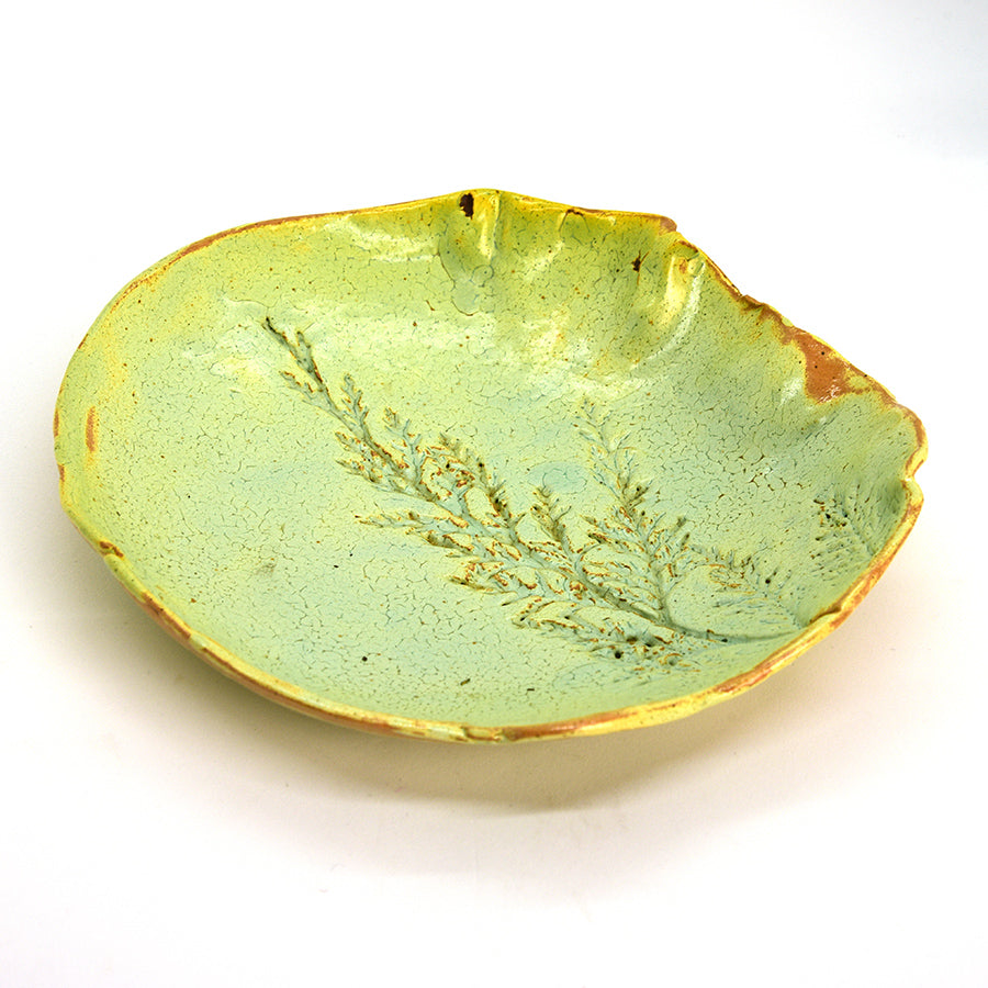 Raku Bowl - Greensprig