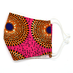 Pink and Orange Flowers Barrier Mask