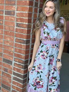 Floral Printed Flutter Dress