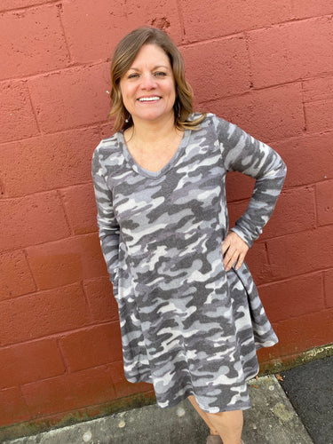 Candice Gray Camo Dress
