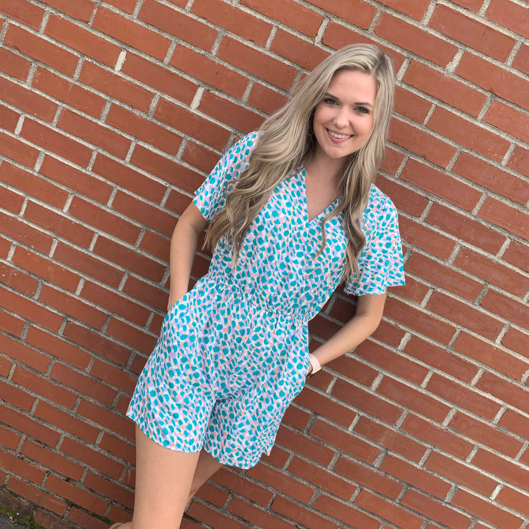 Marie Speckled Romper