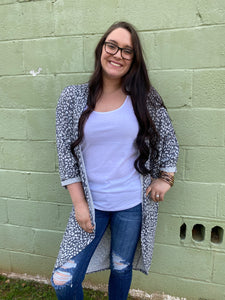 Chrissy Cheetah Cardigan