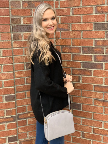Double Pocket Zipper Crossbody