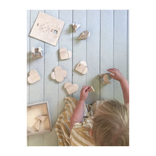 Load image into Gallery viewer, Wooden Heart blocks