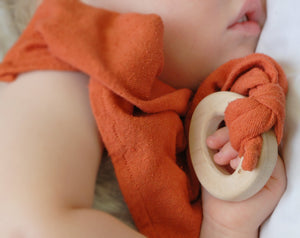 Loullou Silk Teether Blankie Fern