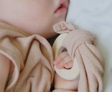 Load image into Gallery viewer, Loullou Silk Teether Blankie Rose