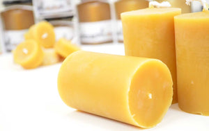 Beeswax block candle - handcrafted 1pcs