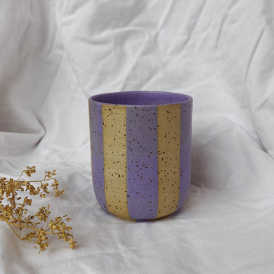 Coffee Cup High - striped lavender
