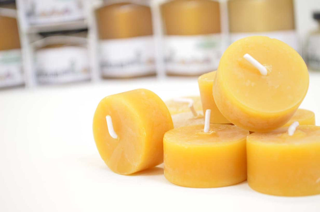 Beeswax candles - refill- handcrafted 1pcs