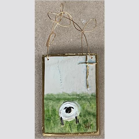 "Sheep Hanger (5"" x 3.5"" x .5"")"