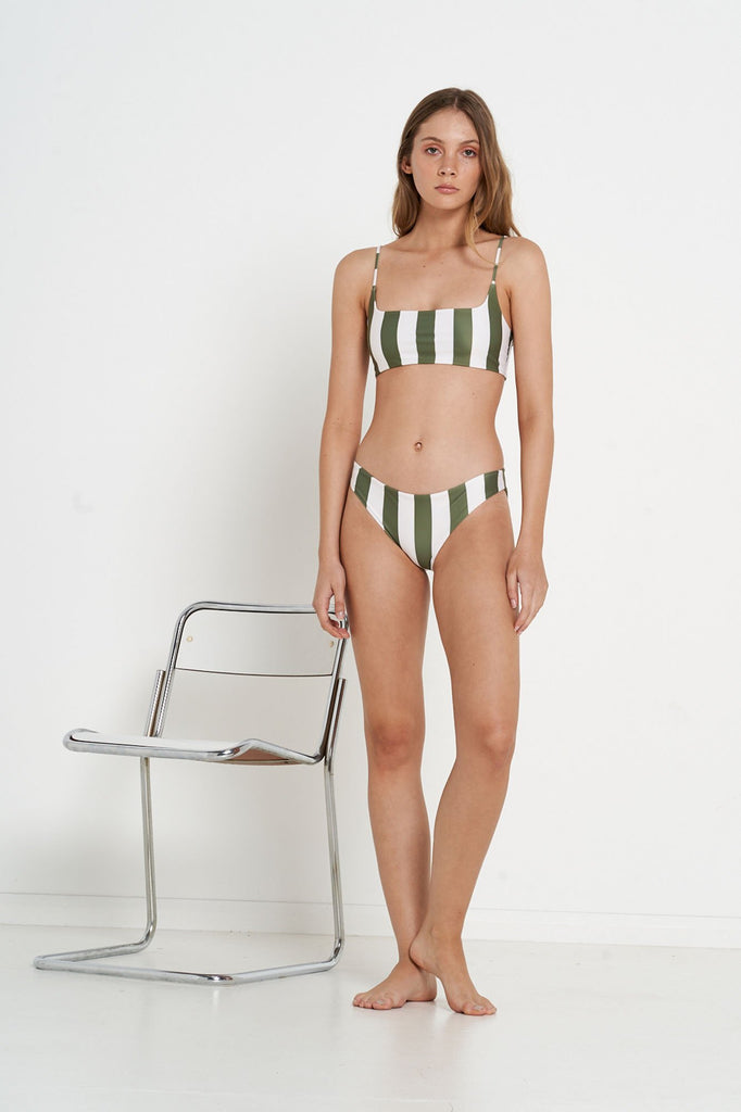 Venus Bottoms - Olive Bold Stripe - Eco