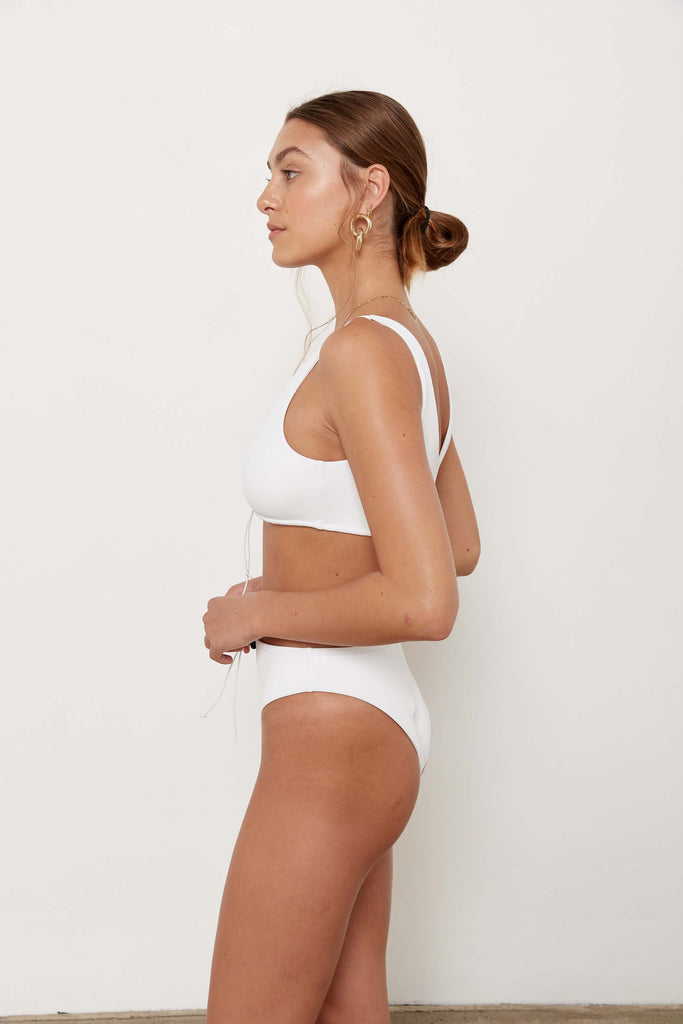 Tiago Bottoms - Eco White Rib