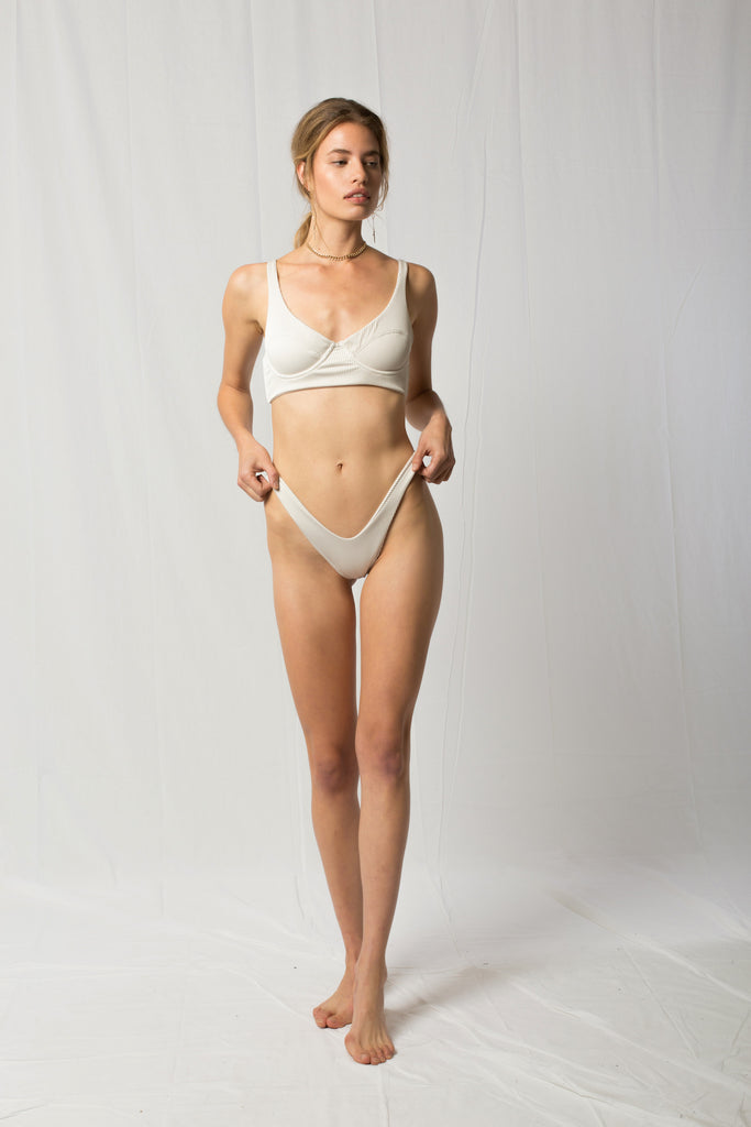 Bianca Top | White Sands Rib