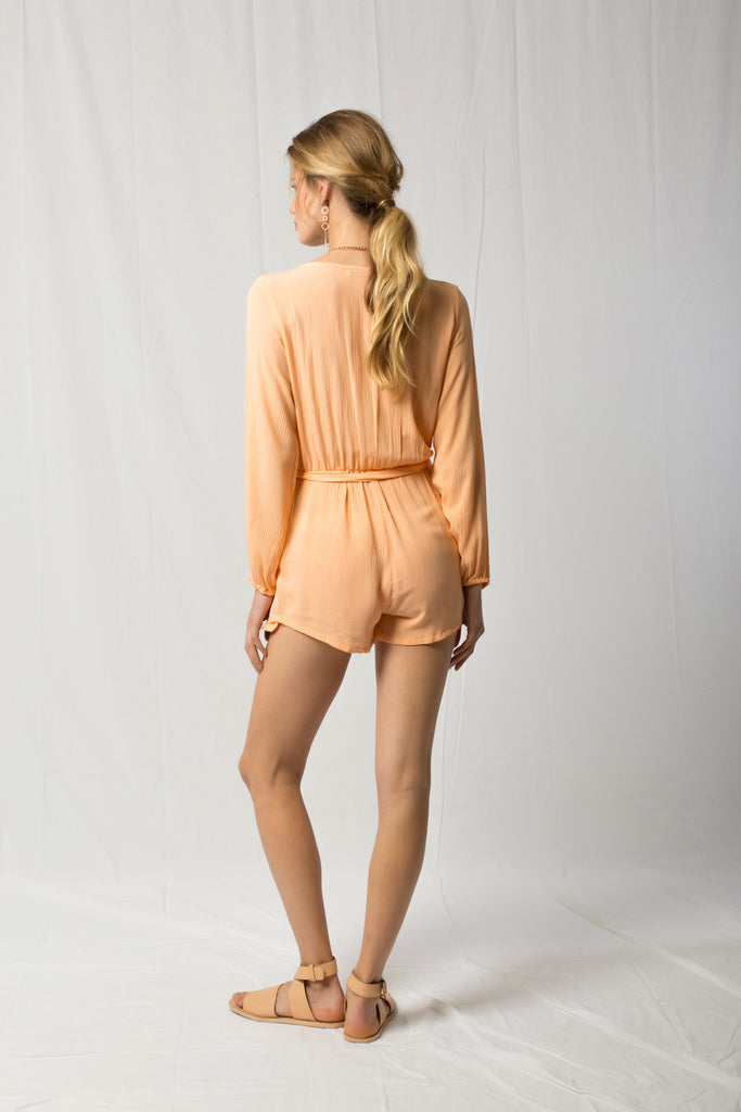Burma Romper - Peaches