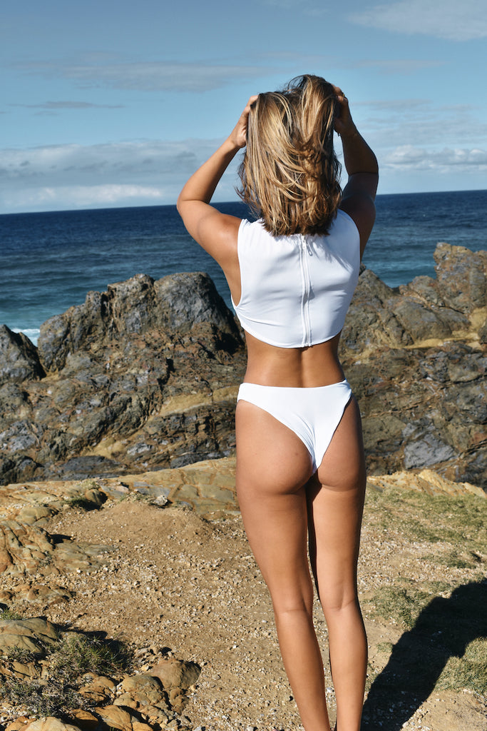 Mana Bottoms - White Rib - Eco