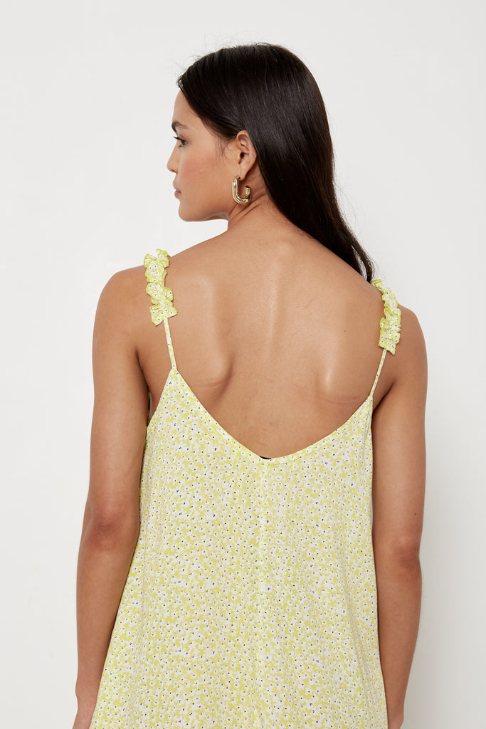 Rosemary Dress - Lime Wildflower