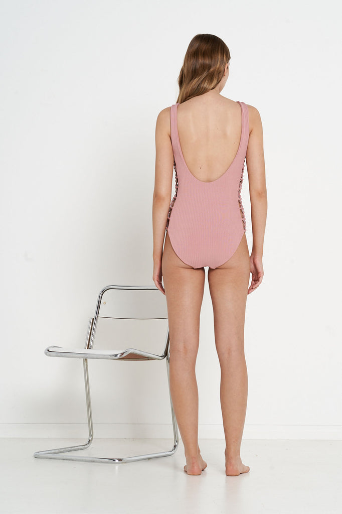 Maison One Piece - Dusty Rose Wide Rib