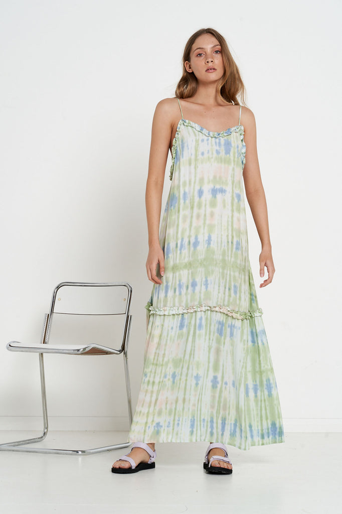Madrid Dress - Acid Tie Dye - Silk