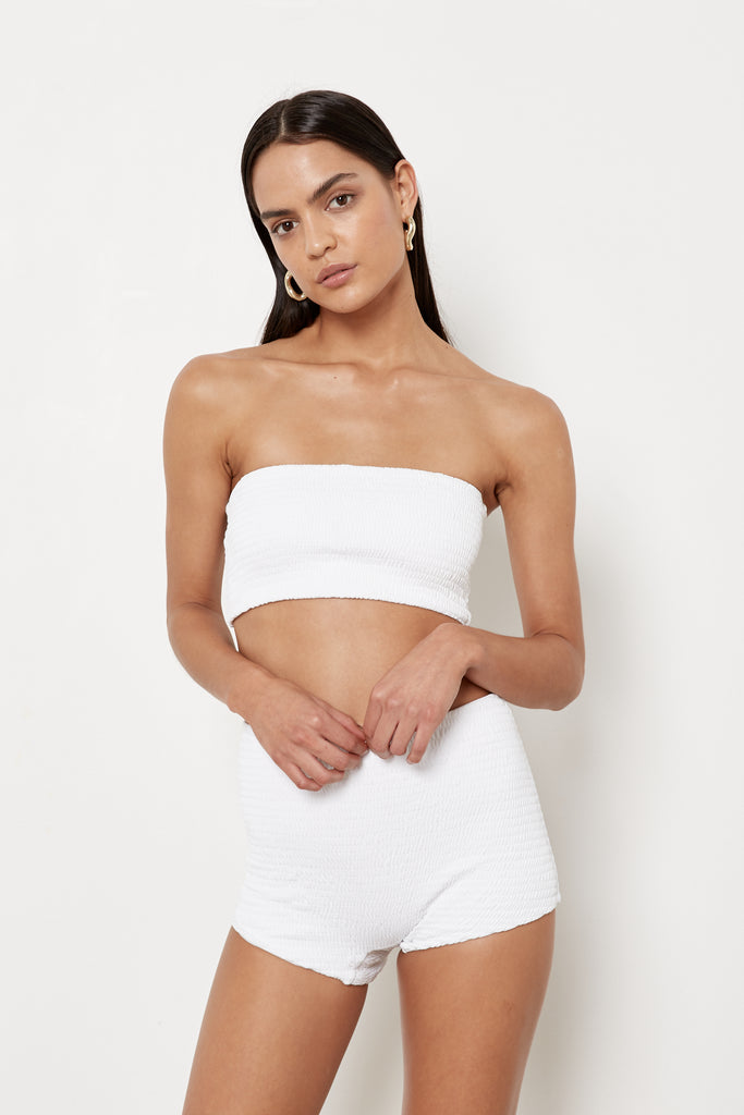 Maria Top - White Rib - Eco