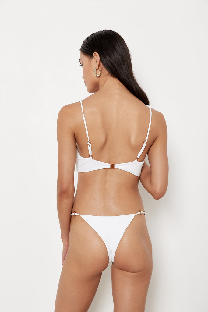 Bianca Top - White Rib - Eco