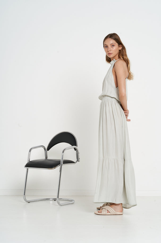 Pacifica Dress - Silver - Silk