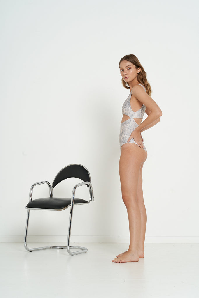 Melrose One Piece - Nude Snake - Eco