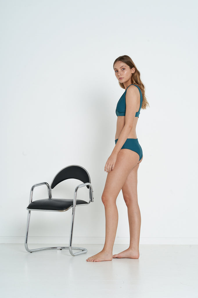 Mandy Top - Teal Rib