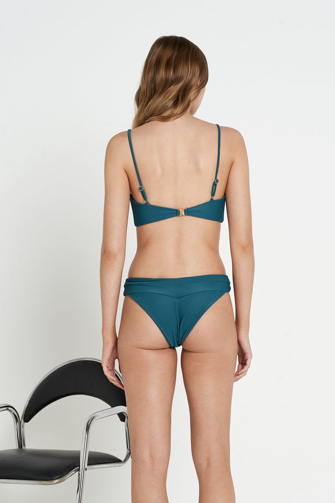 Tartare Bottoms | Teal Rib