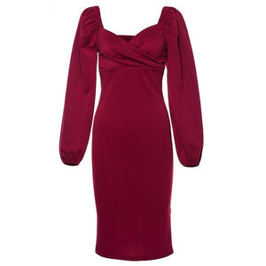 Luxo Women's Sexy V-Neck Dress