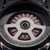 SuperCharger 2.1 - Sport - Gun Metal - Rubber blue