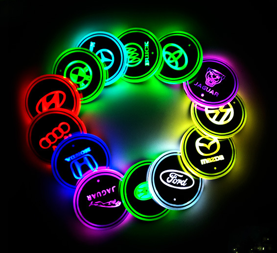 Car LED light coaster