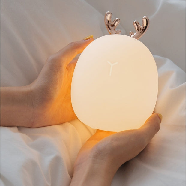 Dimmable LED Night Light Silicone Animal Cartoon Lamp
