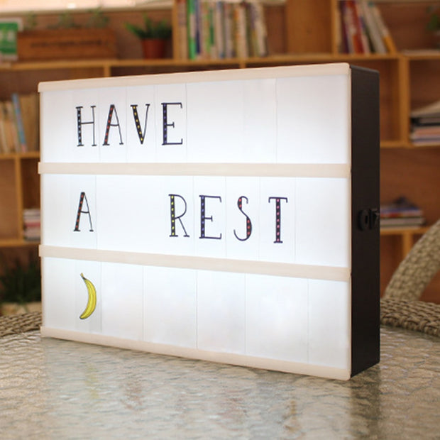 Creative Cinema LED Porch Light Up Sign Box