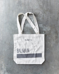 Canvas Tote Bag - Balmain Grey