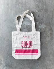 Canvas Tote Bag - Bondi Pinks