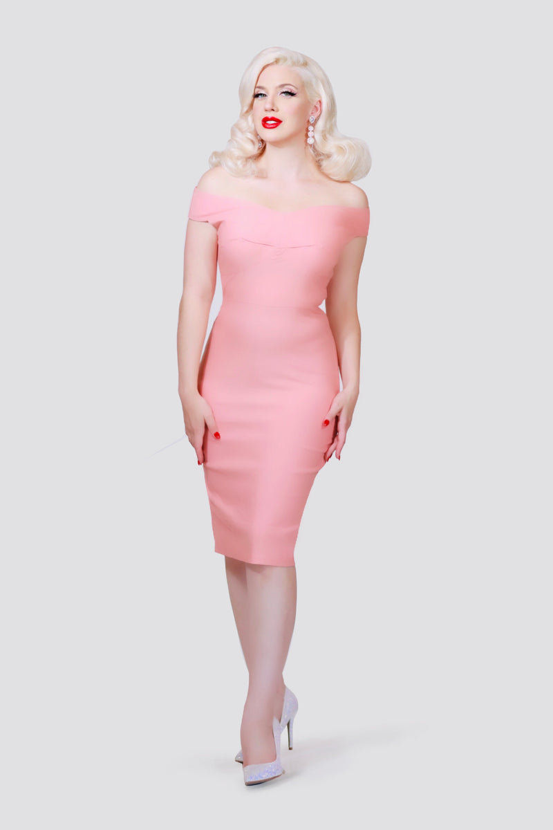 """Vedette"" Pink Wiggle Dress"