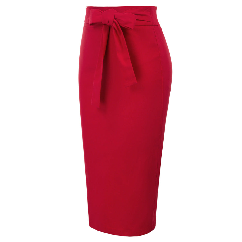 """Cupid's Bow"" Red Pencil Skirt"