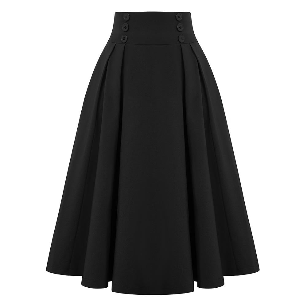 """Darling"" Blaque Pleated Circle Skirt"