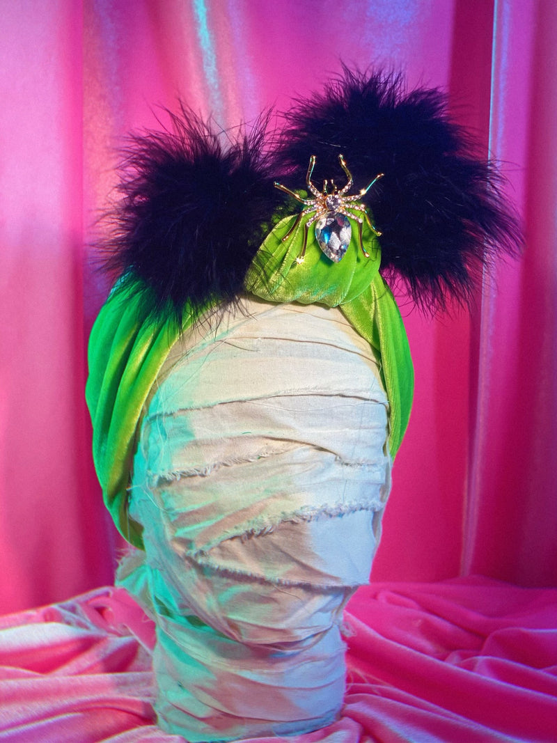Glamour Ghoul Chartreuse Headwrap