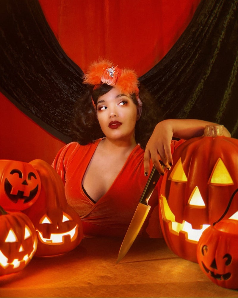 Pumpkin Queen Headwrap